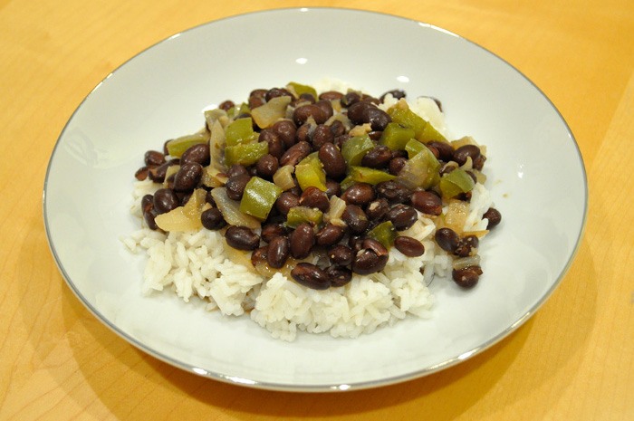 Frijoles Negros (Cuban Black Beans) over Rice